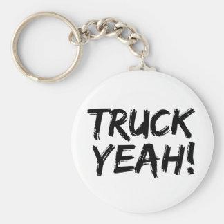Truck Yeah Basic Round Button Keychain