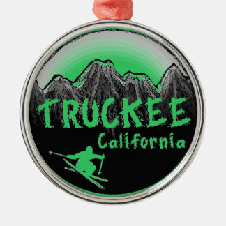 Truckee California artistic skier Metal Ornament
