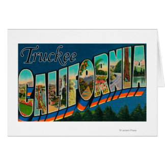 Truckee, California - Large Letter Scenes Card