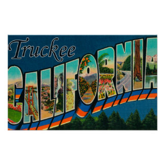 Truckee, California - Large Letter Scenes Print