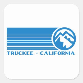 Truckee California Pegatina Cuadrada