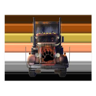 Trucker Bear Pride Postcard