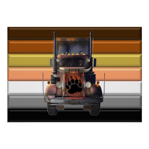 Trucker Bear Pride Poster