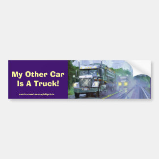 Trucker Big Rig Designs for Truck-lovers Bumper Sticker