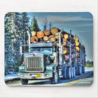 Trucker Big Rig Designs for Truck-lovers Mouse Pad