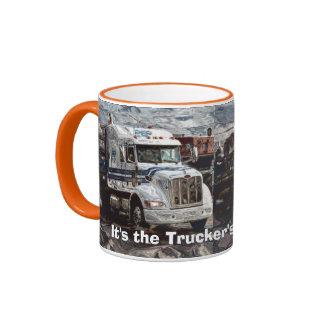 Trucker Big Rig Designs for Truck-lovers Ringer Mug