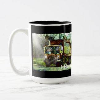 Trucker Big Rig Designs for Truck-lovers Two-Tone Coffee Mug