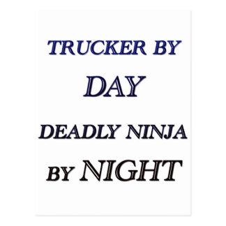 TRUCKER BY DAY POSTCARD