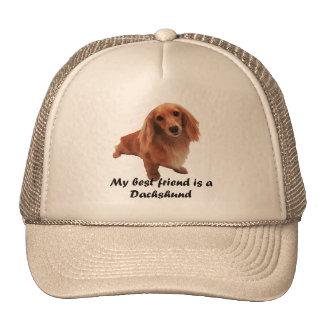 """Trucker cap """"dachshund """" trucker hat"""