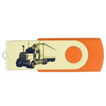 Trucker Cargo Truck Lorry Heavy Transport Gift 9 Flash Drive