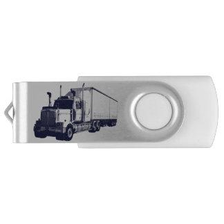Trucker Cargo Truck Lorry Heavy Transport Gift 9 Swivel USB 2.0 Flash Drive