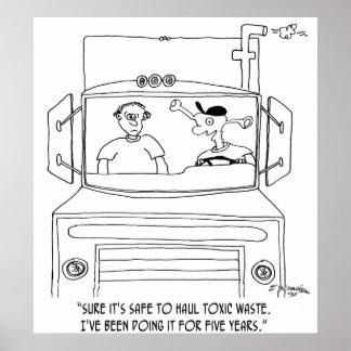 Trucker Cartoon 7395 Poster