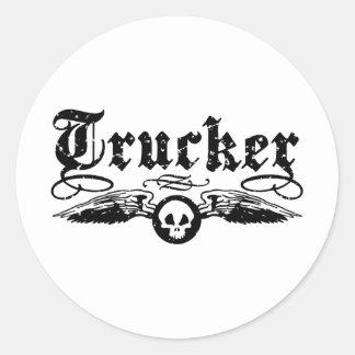 Trucker Classic Round Sticker