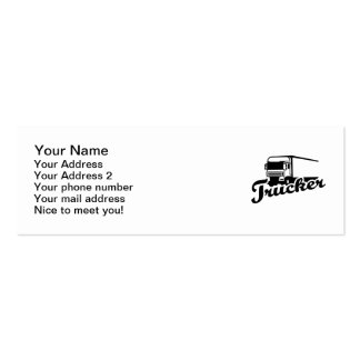 Trucker Double-Sided Mini Business Cards (Pack Of 20)