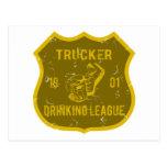Trucker Drinking League Postcard
