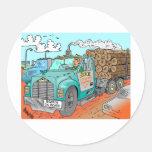Trucker Gifts Round Stickers