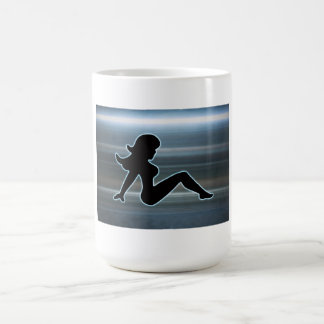 Trucker Girl on Metal Coffee Mug