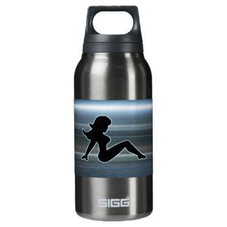 Trucker Girl on Metal Insulated Water Bottle