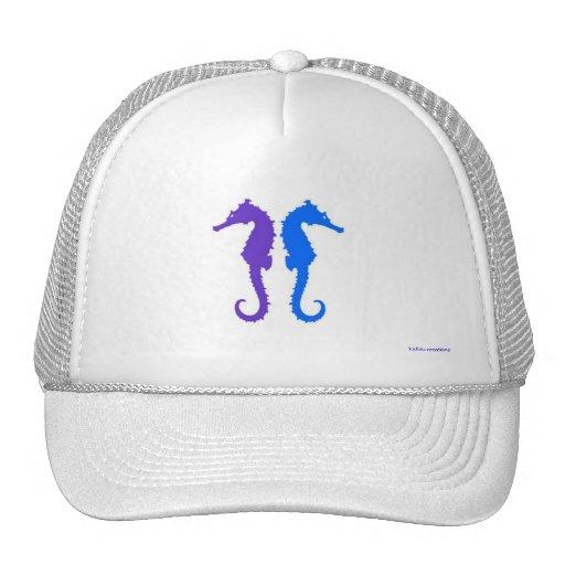 trucker hat - 2 cool seahorses