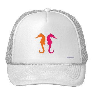 trucker hat - 2 hot seahorses