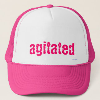 trucker hat - agitated in pink