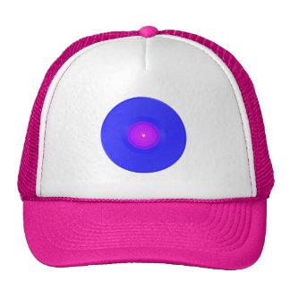 Trucker Hat, Blue/Pink Vinyl Trucker Hat