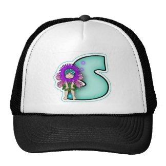 Trucker Hat Cute Fairy Initial Letter S