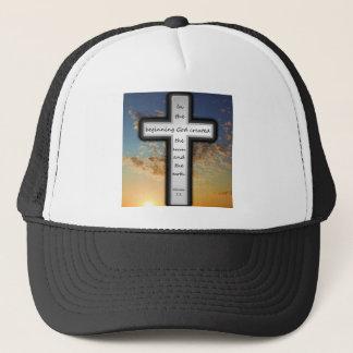 Trucker Hat featuring Genesis 1:1.
