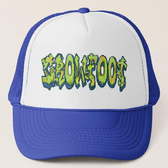 Trucker Hat, Graffiti style Crowfoot Trucker Hat
