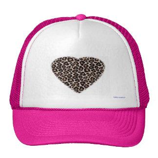 trucker hat - leopard heart
