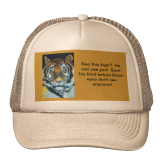 TRUCKER HAT SAVE THE TIGER