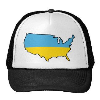 Trucker Hat: Ukrainian in USA Trucker Hat