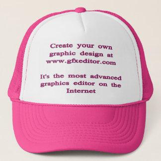 Trucker Hat, White and Hot Pink. Trucker Hat