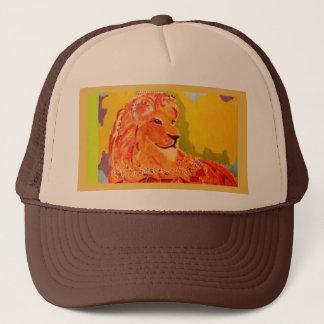 Trucker Hat with Bright Lion Design