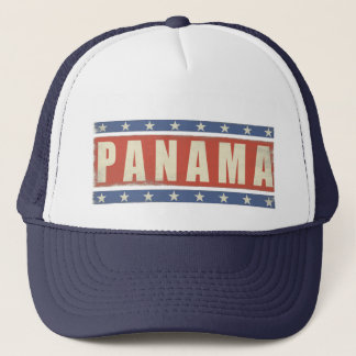 Trucker Hat with Cool Panama Flag Print