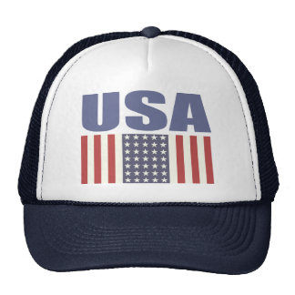 Trucker Hat with Cool USA Flag Print