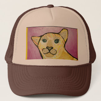 Trucker Hat with Cute Lion Design