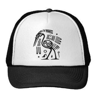 Trucker Hat With Mayan Bird Design