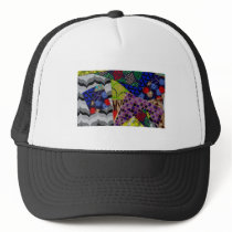 Trucker Hat with Multi-Patterned Design