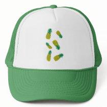 Trucker Hat with Pineapple Pattern