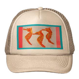 Trucker Hat with Sea Horse Design