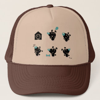 Trucker hat with stylish Dogs