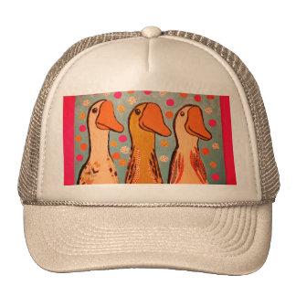 Trucker Hat with Three Duck Design