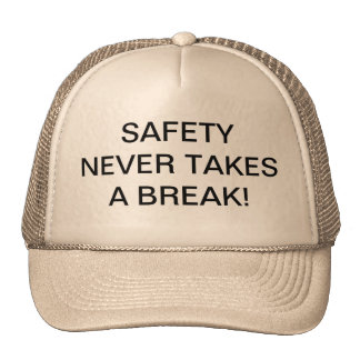 TRUCKER HATS WITH SAFETY-SLOGAN.
