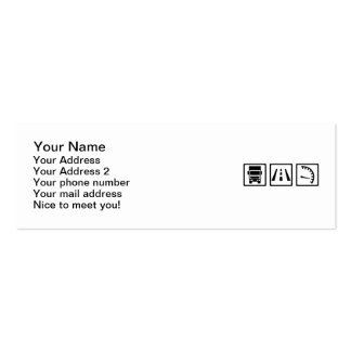 Trucker icons Double-Sided mini business cards (Pack of 20)