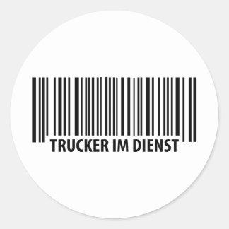 Trucker im Dienst icon Classic Round Sticker
