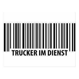 Trucker im Dienst icon Postcard