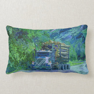 Trucker Logging Truck Lorry Heavy Transport Gift2 Lumbar Pillow