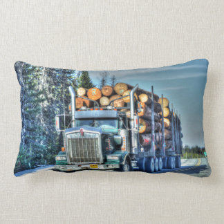 Trucker Logging Truck Lorry Heavy Transport Gift5 Lumbar Pillow