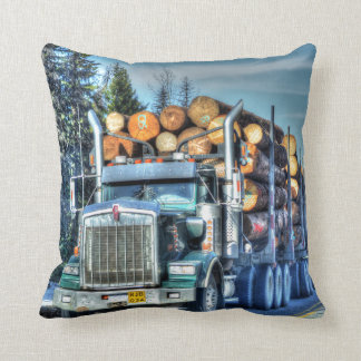 Trucker Logging Truck Lorry Heavy Transport Gift5 Throw Pillow
